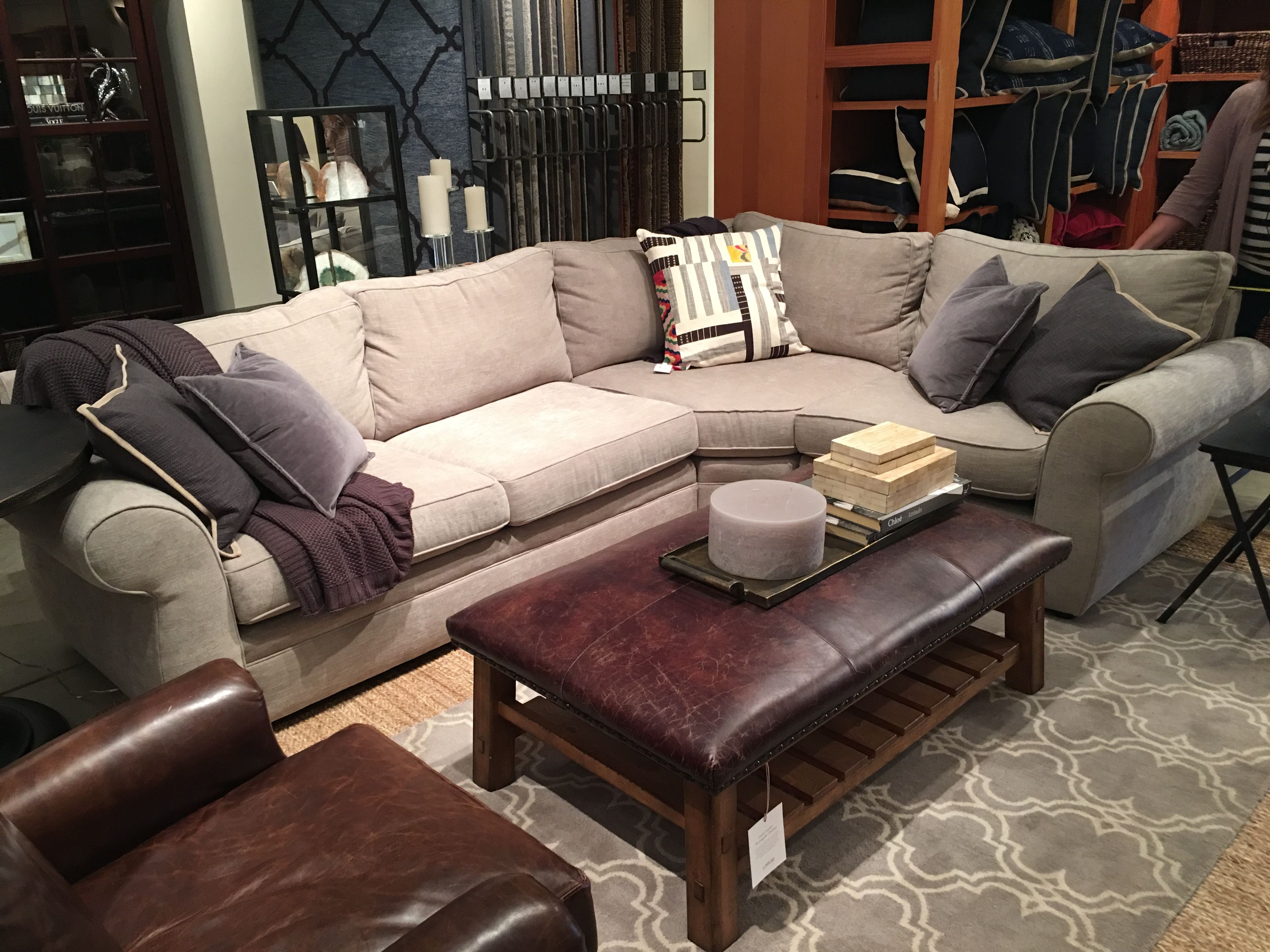 Pottery Barn Pearce Sectional In Silver Taupe Perfect Sofa And