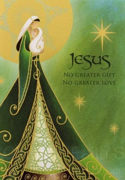 irish madonna child christmas card box set abch053