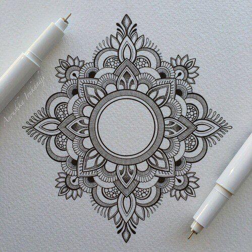 Mandala Kunstunterricht Mandalas Zeichnen Zentangle Kunst