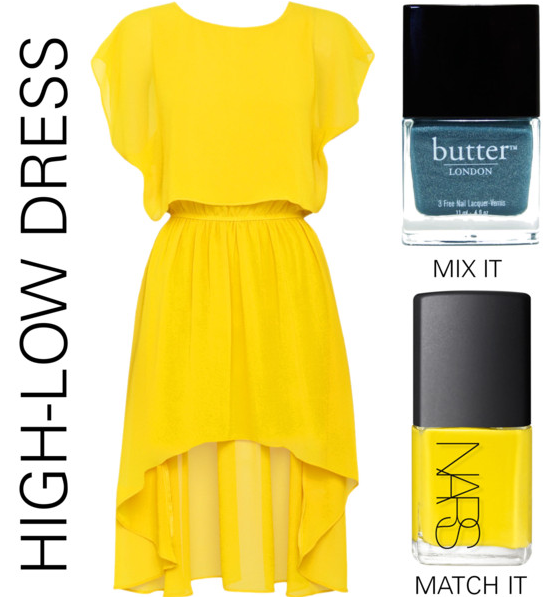 High low dress yellow summer dress