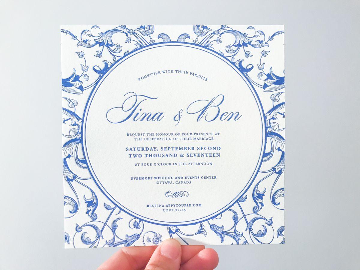Dutch inspired letterpress wedding stationery. Beautifully designed ...
