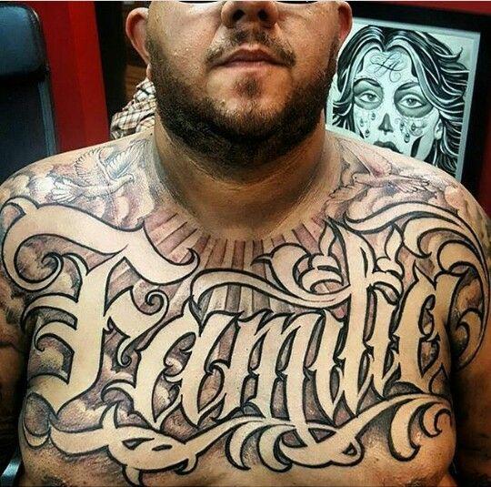 Tattoo Familia Letter Lettering Letras Para Tatuagem Tatuagens Peito Tatuagem No Peito