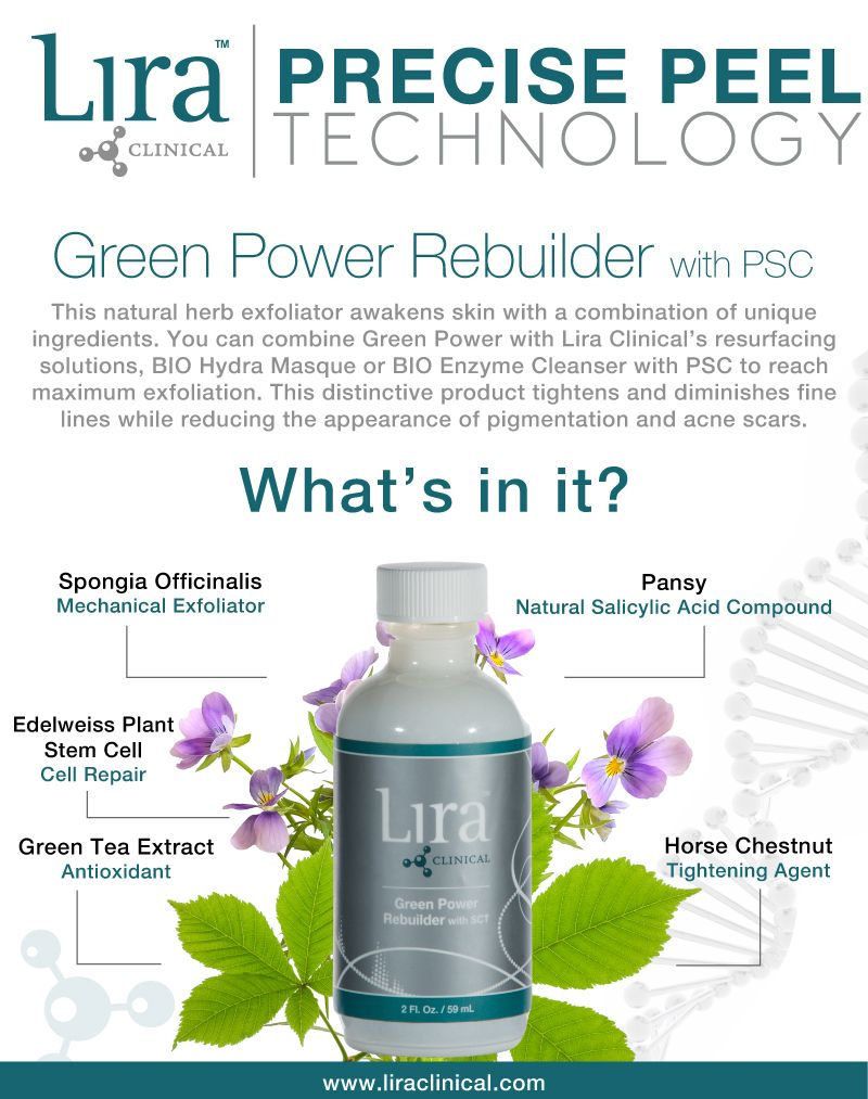 Enliven Your Skin With Green Power Rebuilder With Psc This Natural Exfoliator Contains A Combinat Natural Exfoliant Botanical Ingredients Skin Care Treatments