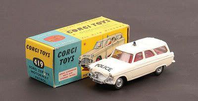 Mettoy Corgi Toys No 419 Ford Zephyr Motorway Patrol 1960 65 With