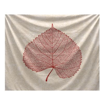"Alcott Hill Flipping for Fall Leaf Study Tapestry Size: 60"" H x 50"" W x 0.13"" D"