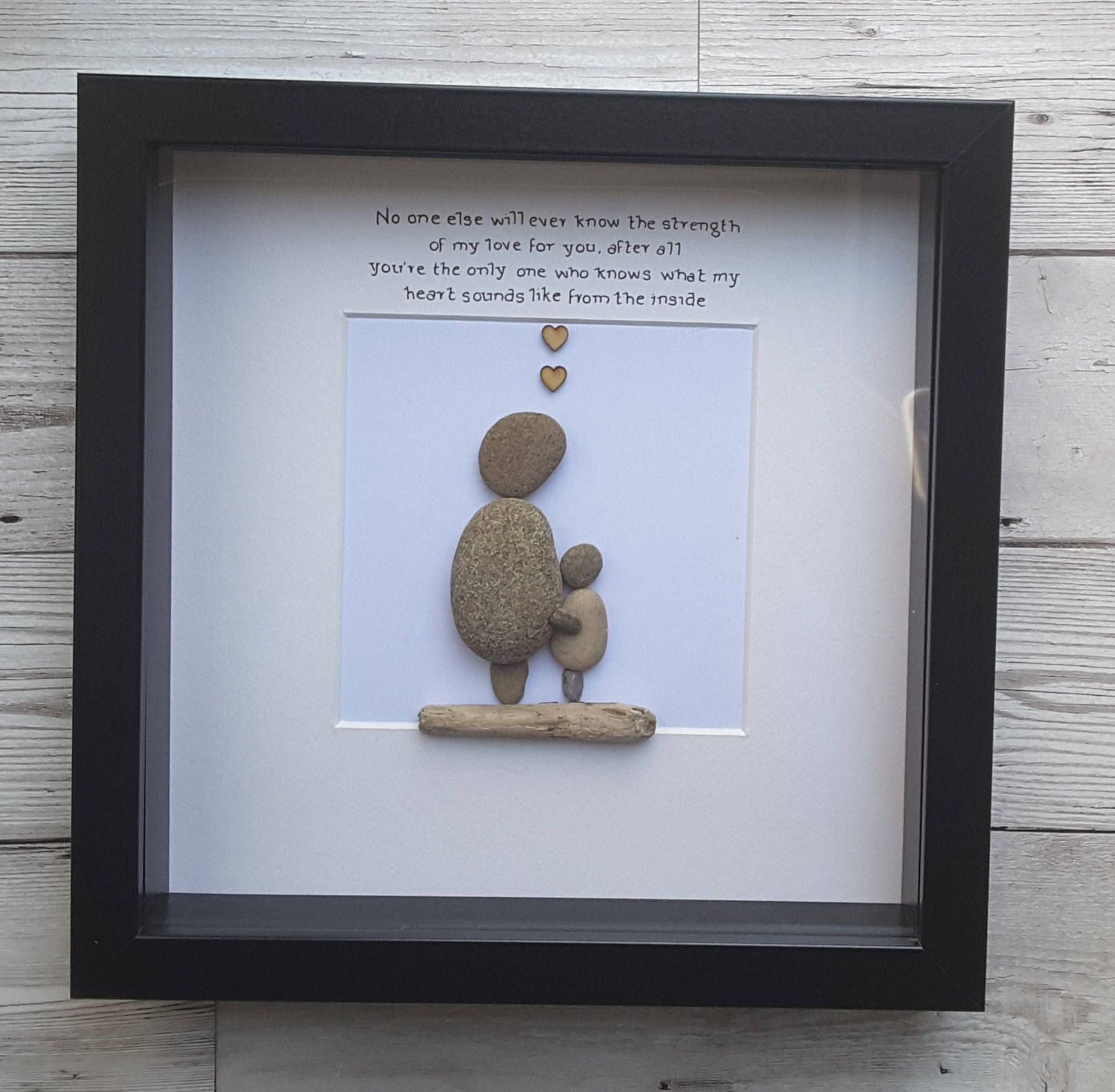 Pebble Art Picture, Gift For Mom, Gift For Mum, Gift From