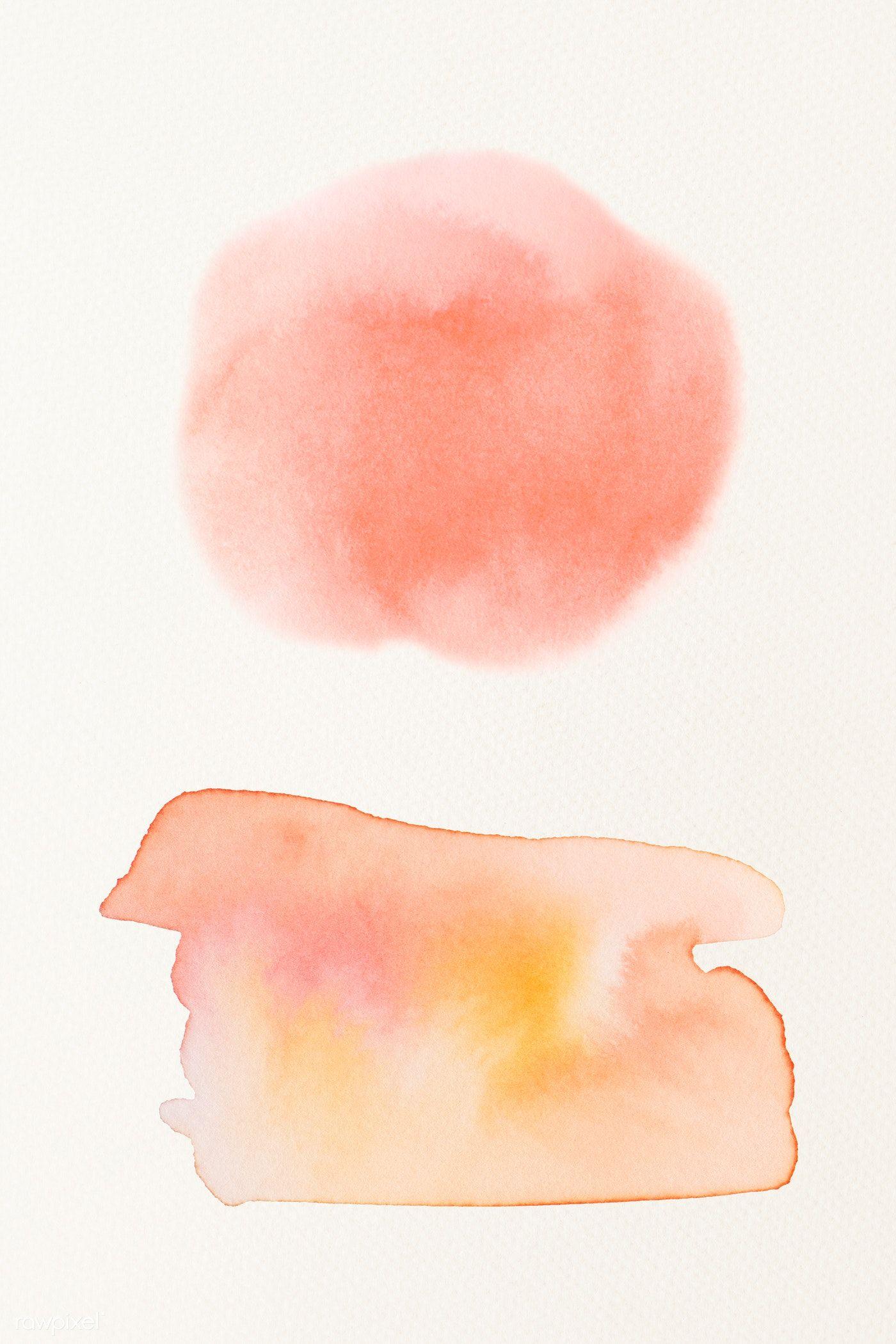 Abstract orange and yellow watercolor splash illustration