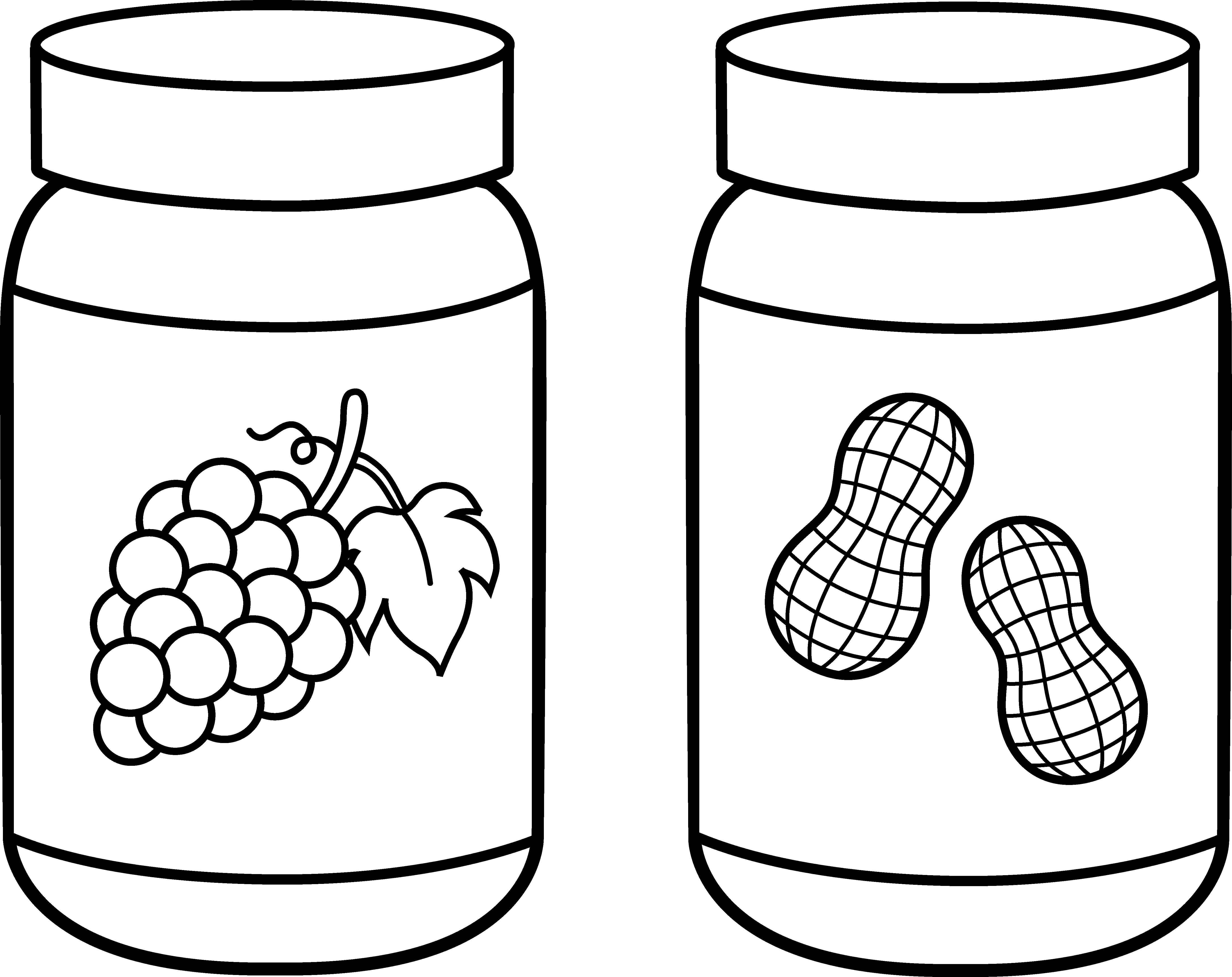 Giant Jam Sandwich Coloring Pages Free Clip Art Coloring Pages Peanut Butter Jelly Time