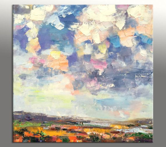 Large abstract painting oil painting landscape square for Quadri pittura astratta
