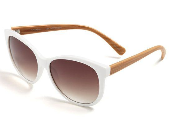 White: Halogen Retro Sunglasses ($58)