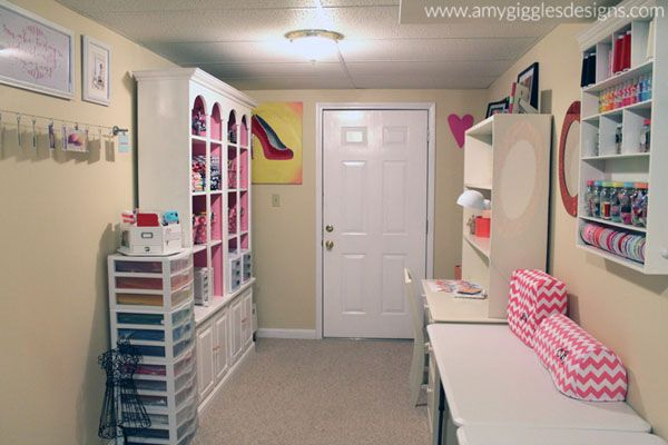 small spaces craft room storage ideas. Craftaholics Anonymous® | Small Craft Room Tour - Amy Giggles Designs Spaces Storage Ideas F