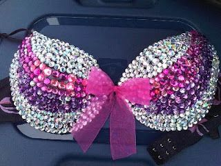bedazzled bra...who doesn't need one of these?! This is so cute!