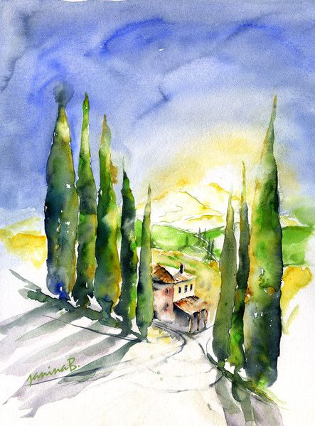 Aquarelle Landschaft Fillesansnoms Webseite Aquarelle