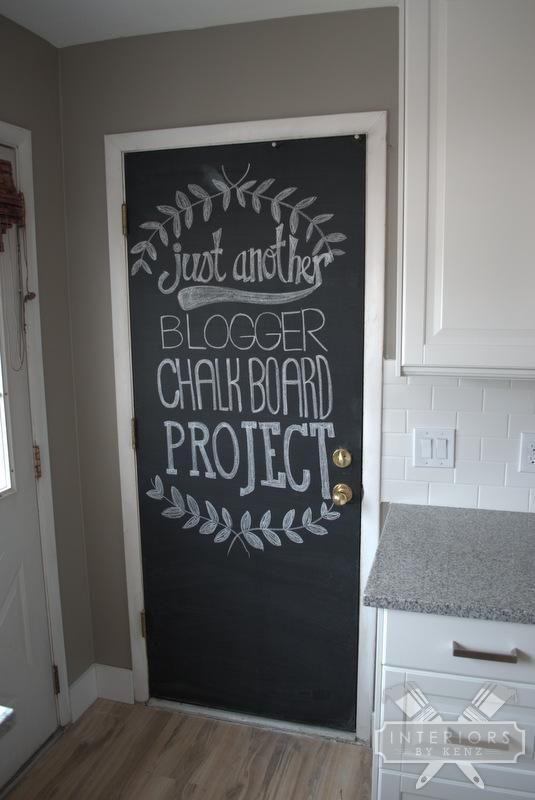 Spice up your back door for only $9. How to paint a chalkboard door. & Painting A Chalkboard Door | Chalkboards Doors and Magnetic paint