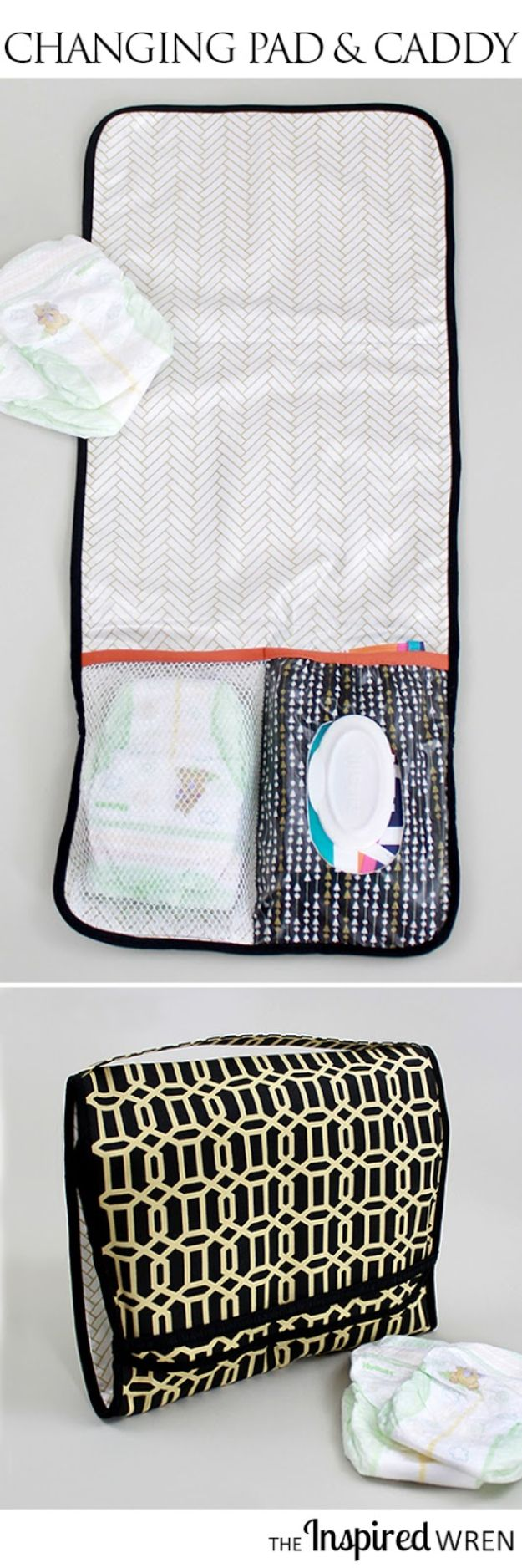 Super creative things to sew for baby diaper caddy