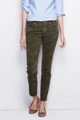 6fc9c35eba384 Women s Fit 1 Not-too-low Rise Slim Leg Jeans - Muted Moss Camo from Lands   End
