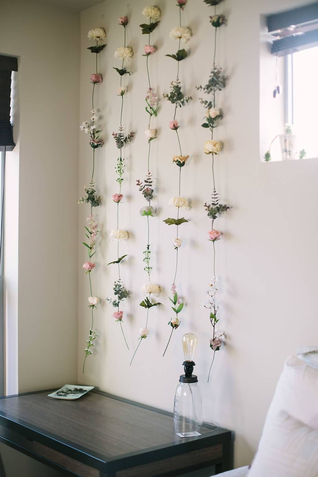 Best Good Idea To Dry Flowers And Pin Them To Ribbons And Hang 640 x 480