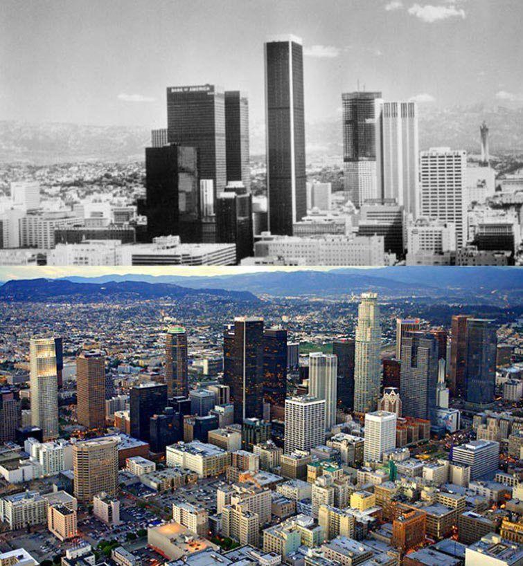 Los Angeles Usa 1970 2014 Skyline Los Angeles Skyline Los Angeles