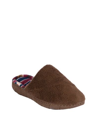 Mukluks Fleece Slippers Women's Dark Brown Medium