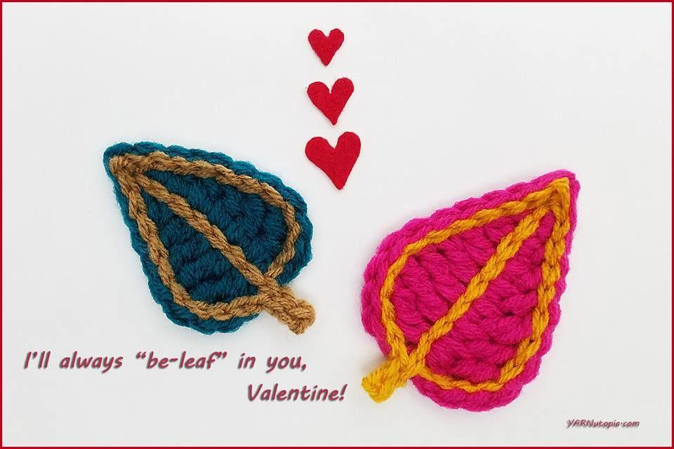 Crochet Tutorial: Leaf Applique | YARNutopia by Nadia Fuad