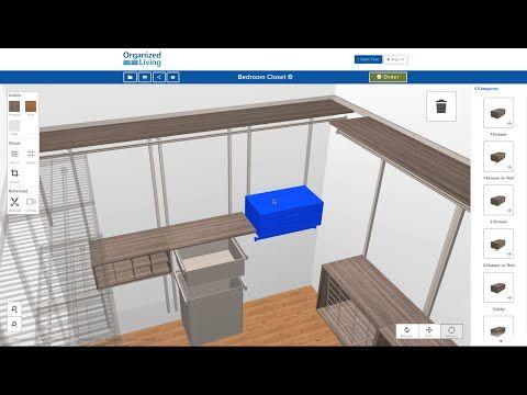 New 3d Closet Design Tool Organizedliving Com Closet Design