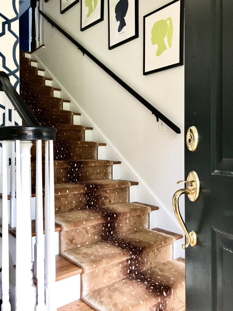 Best Our Antelope Stair Runner Before After Foyer 400 x 300
