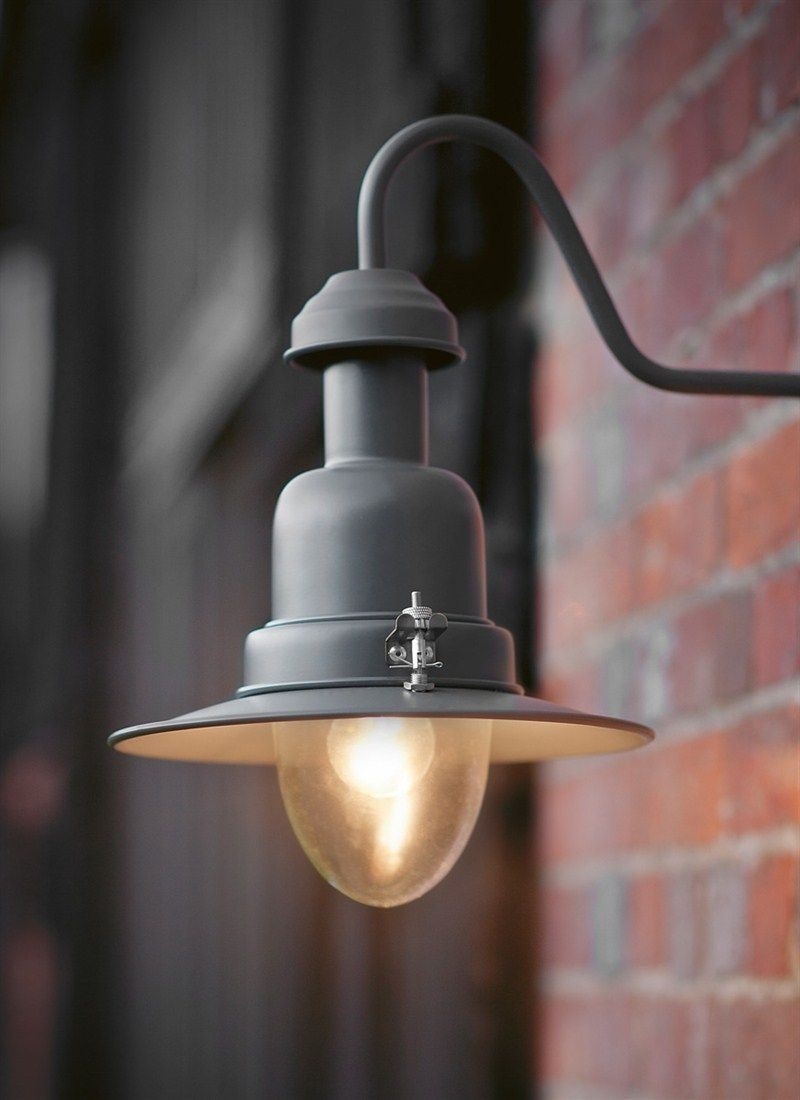 A stylish outdoor wall mounted light in our new Charcoal colour ...