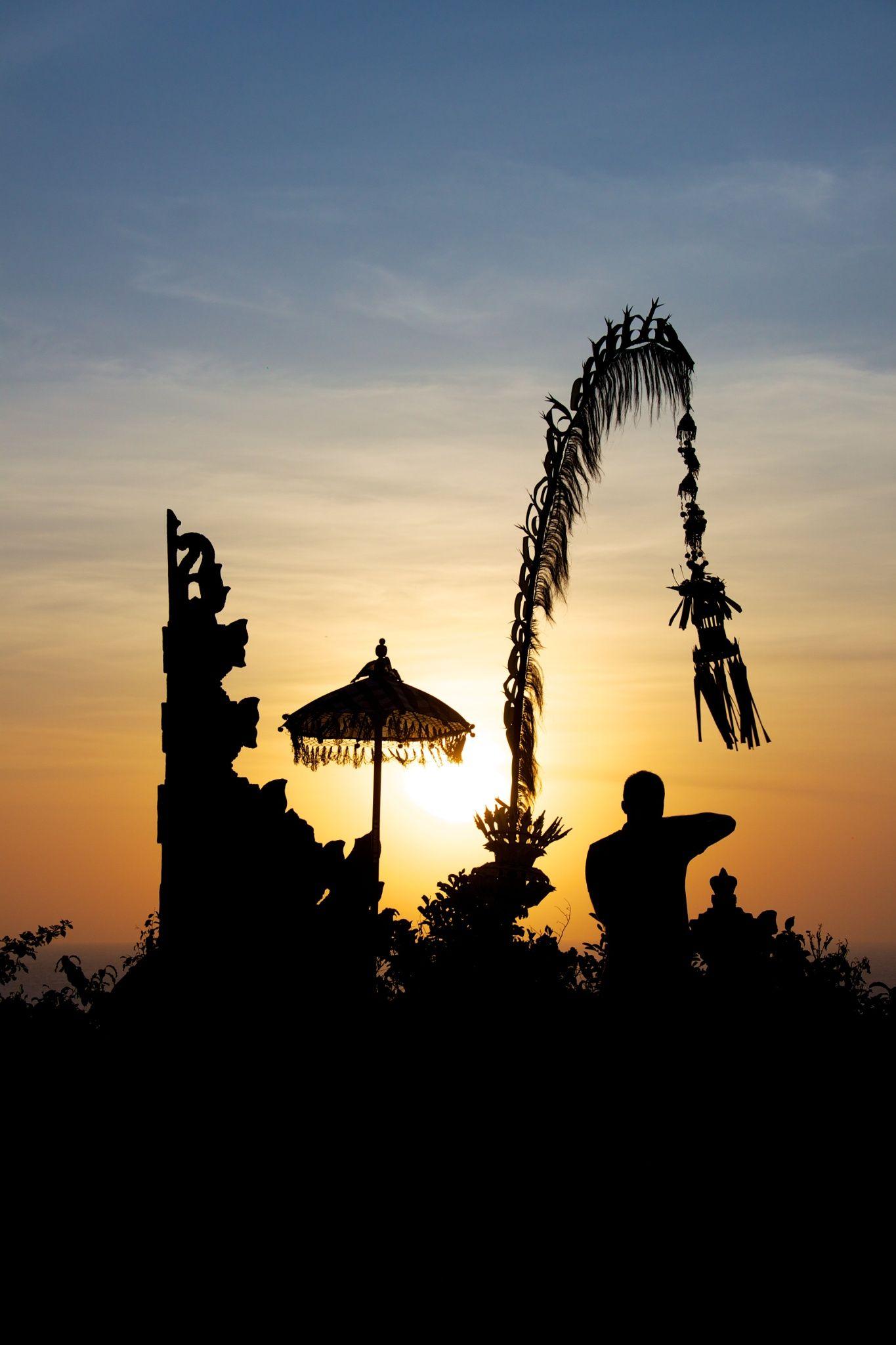Balinese silhouette Bali, Bali indonesia, Indonesia