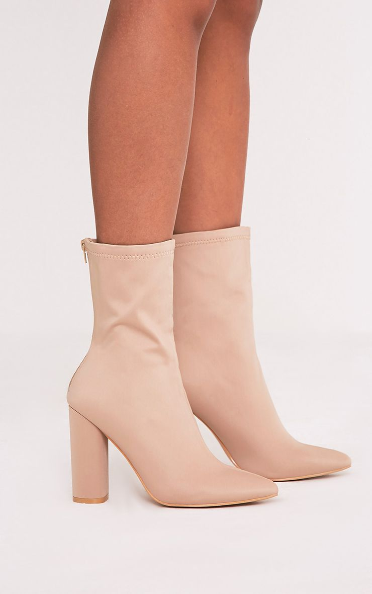PRETTYLITTLETHING Neoprene Heeled Sock Boot bEfPAy