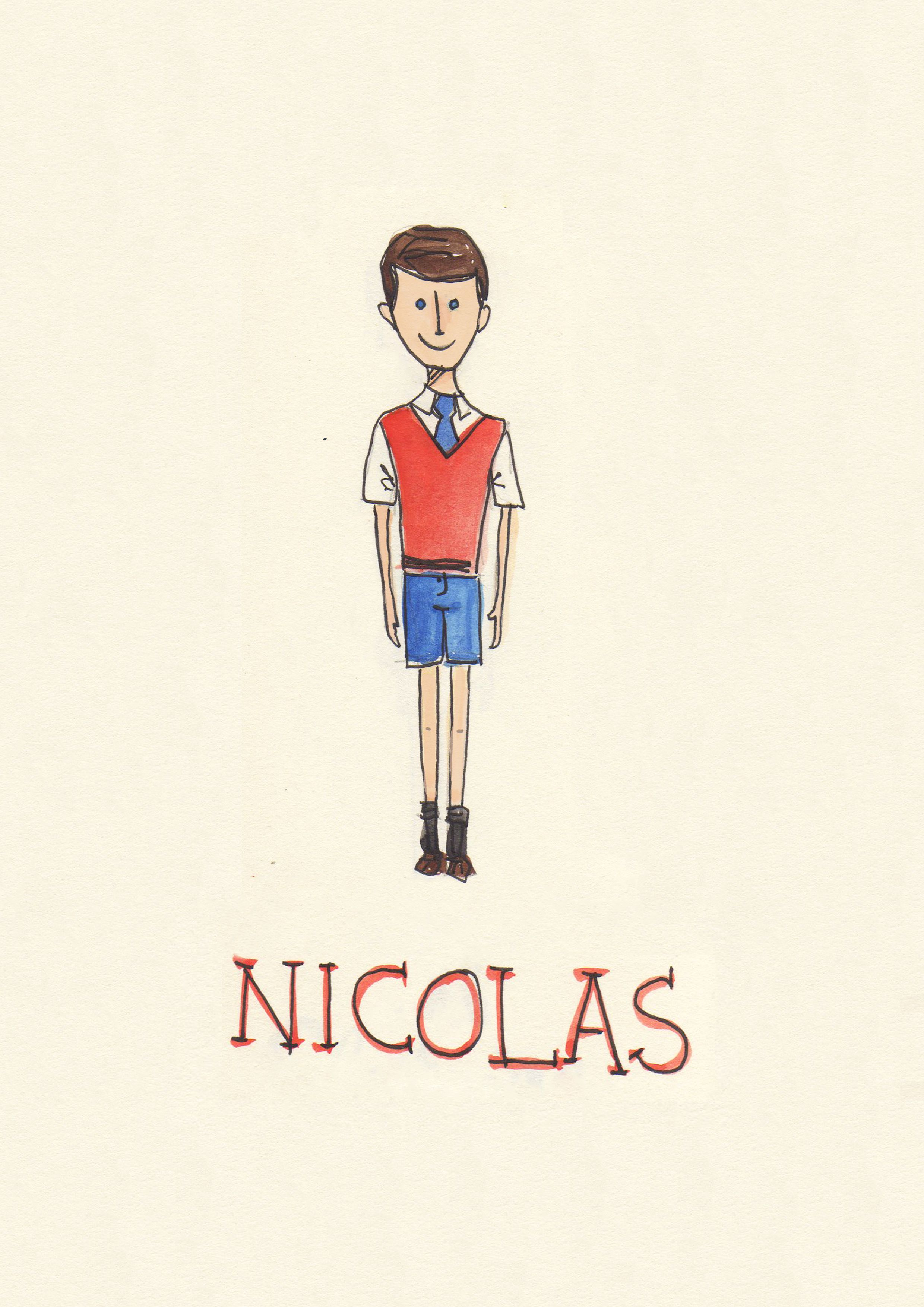 nicolas, from the movie 'le petit nicolas'  (illustration: Letícia Naves)