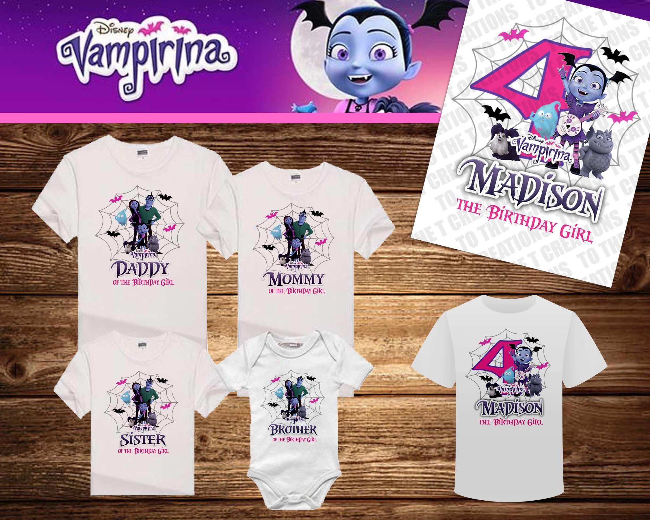 dd792357f Vampirina Personalized Birthday Shirt - Tshirt - Onesie - Mom - Dad - Sister  - Brother - Birthday - Any Name by TotheTCreations on Etsy