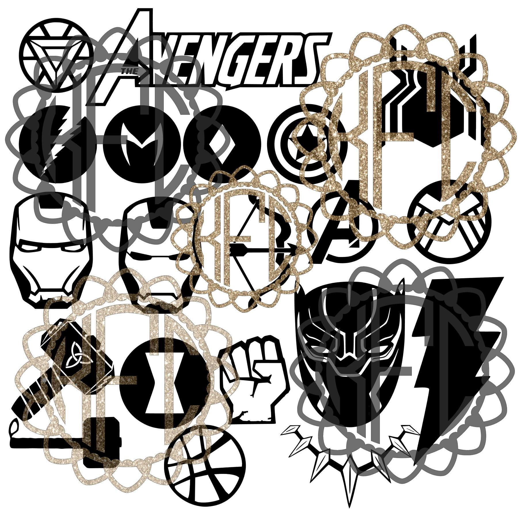 Avengers Black Panther Infinity War logo BUNDLE! Great
