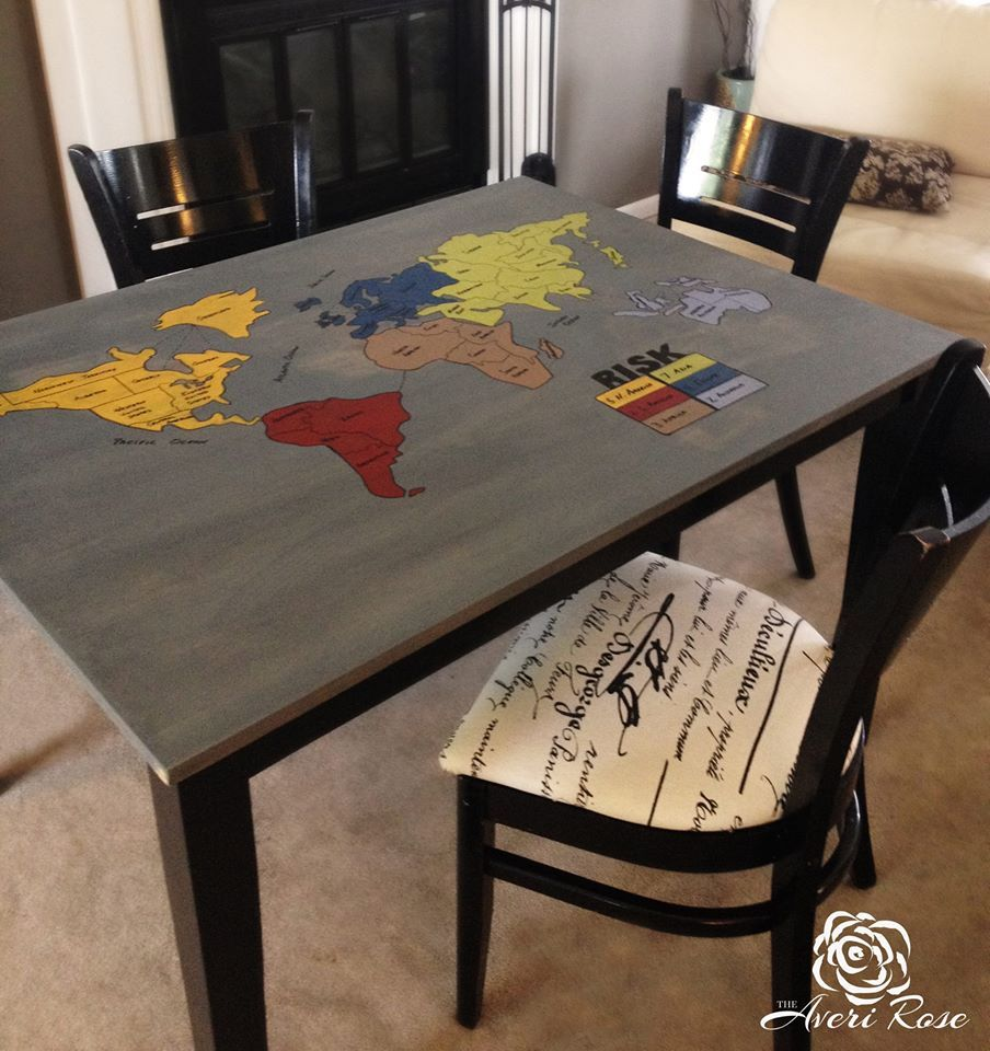 risk board game table! unique finds of every kind! www.facebook