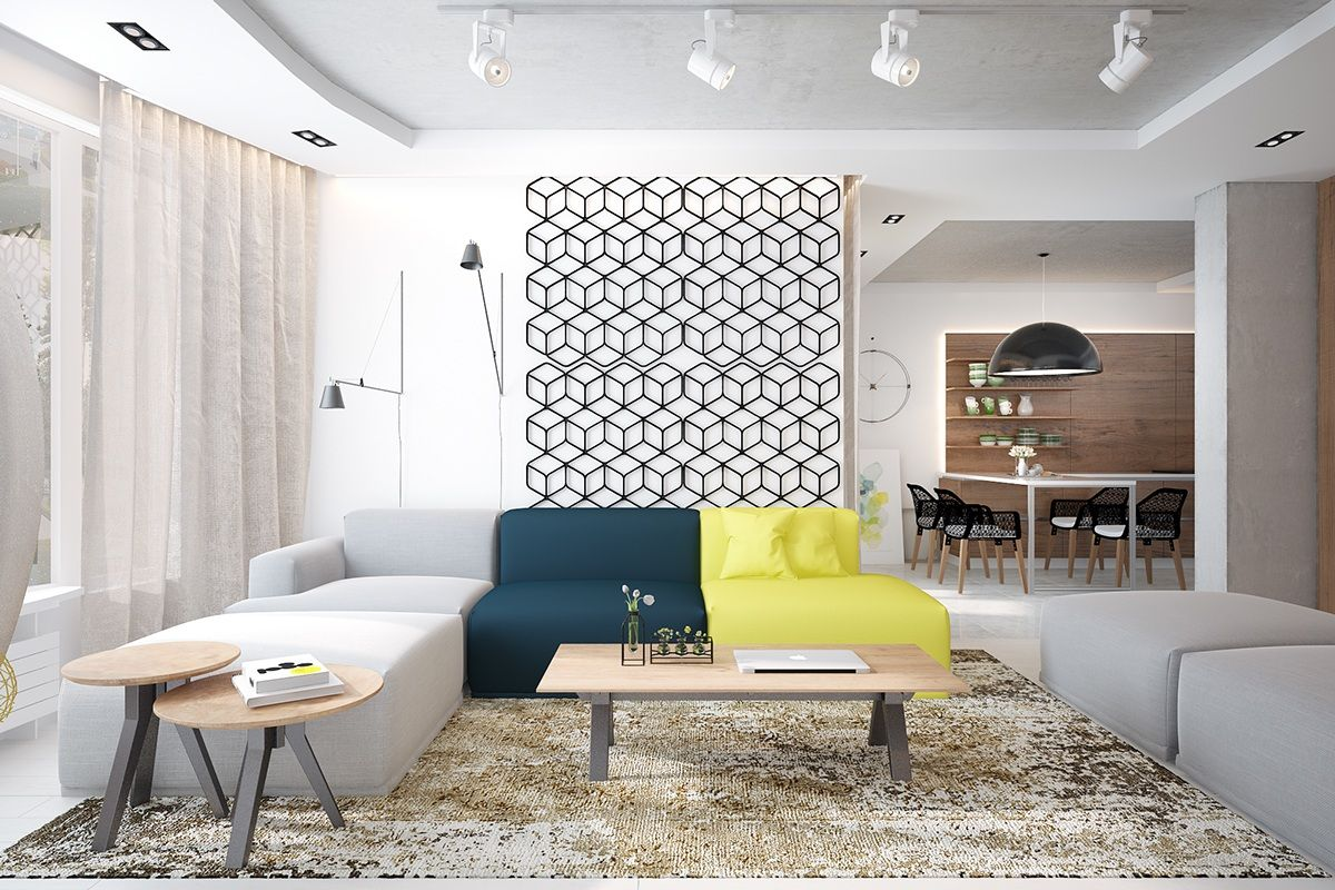 Types of Fabulous Apartment Designs Combined with