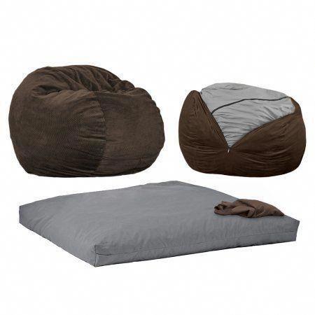 Mushroom Bean Bag Chair Double Folding Camping Cordaroy S Chenille Beanbag Full Sleeper Beanbagchair Mushroomchair Nursing