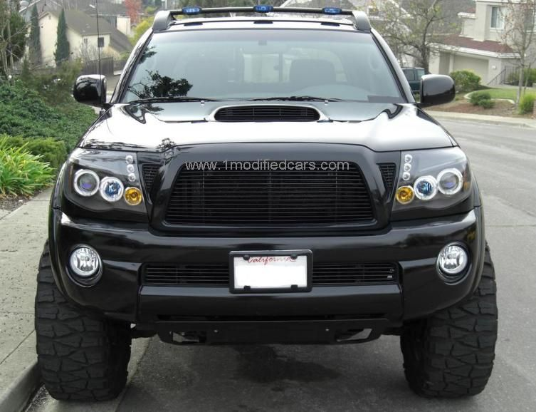 modified custom toyota tacoma xtra cab piaa led hid. Black Bedroom Furniture Sets. Home Design Ideas