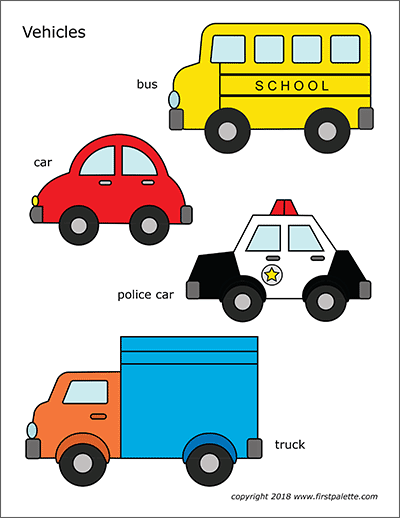 Cars And Vehicles Free Printable Templates Coloring Pages Firstpalette Com Printables Free Kids Preschool Activities Printables Kids