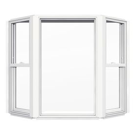 jeld wen single hung vinyl double pane double strength new construction bay window rough opening x - Garden Windows For Kitchen 2