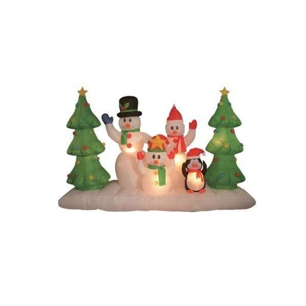 found it at wayfair 8 long christmas inflatable snowmen family outdoor snowman snowman