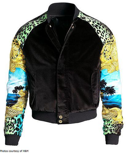 Silk Velvet Versace X H M Men S Jacket I Want Bomber Jacket Men Velvet Bomber Jacket H M Jackets