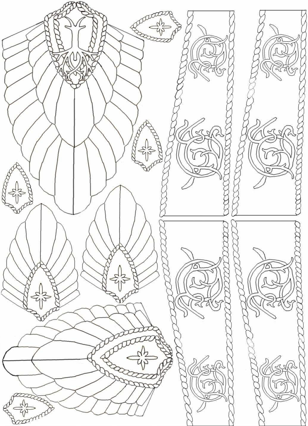 aragorn s crown template crafty handy manny pinterest crown