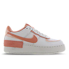 White And Pink Nike Air Force 1 Shadow - Foot Locker in 2020 ...