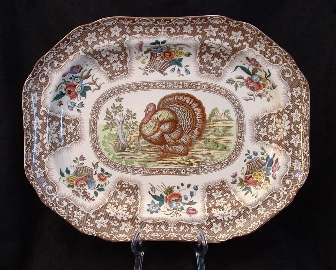 Spode Large Rectangular Turkey Platter ~♥~ & Spode Large Rectangular Turkey Platter ~♥~ | Transferware~Love it ...
