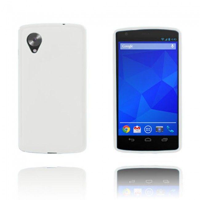 GelCase (Valkoinen) Google Nexus 5 Suojakuori - Ilmainen Toimitus! - http://lux-case.fi/gelcase-valkoinen-google-nexus-5-suojakuori.html