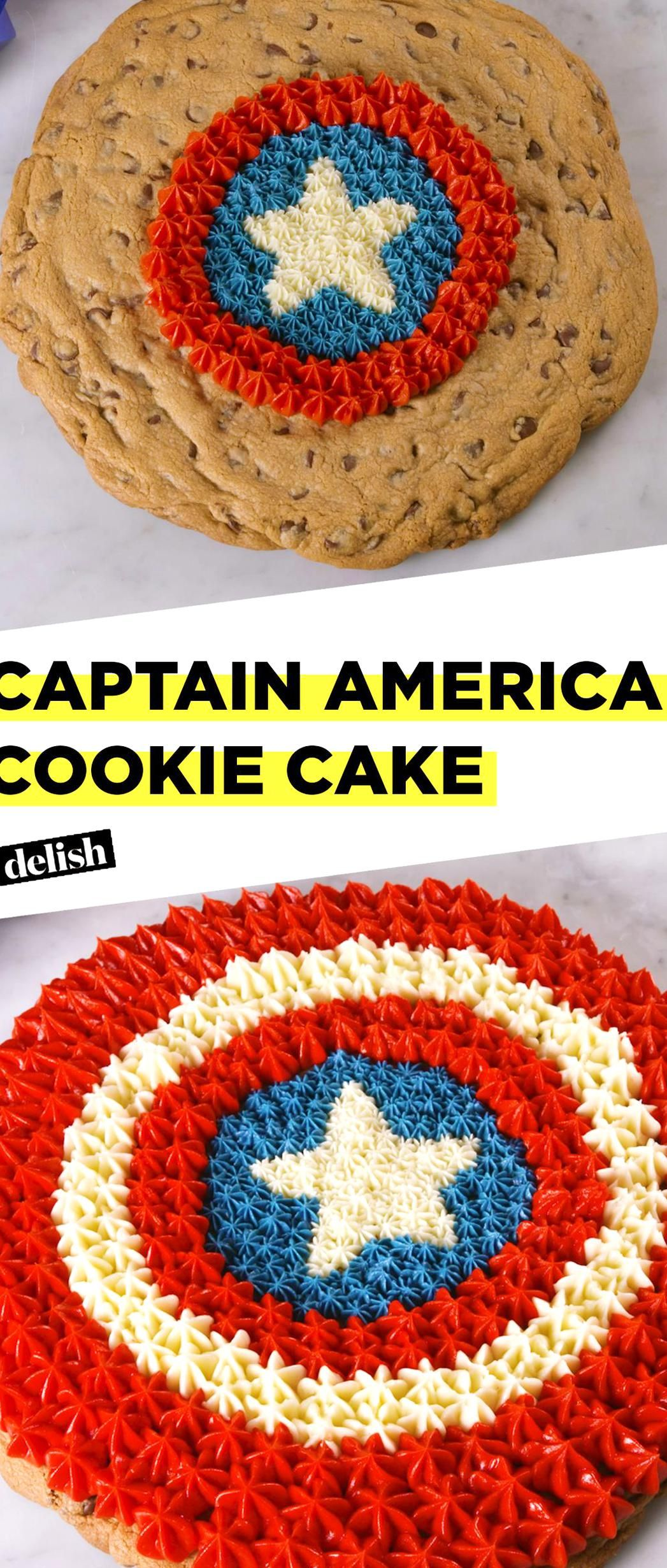 Even captain america couldnt finish this giant cookie cake