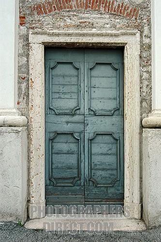 Teal Door European Door Antique Door With Stone Surround French