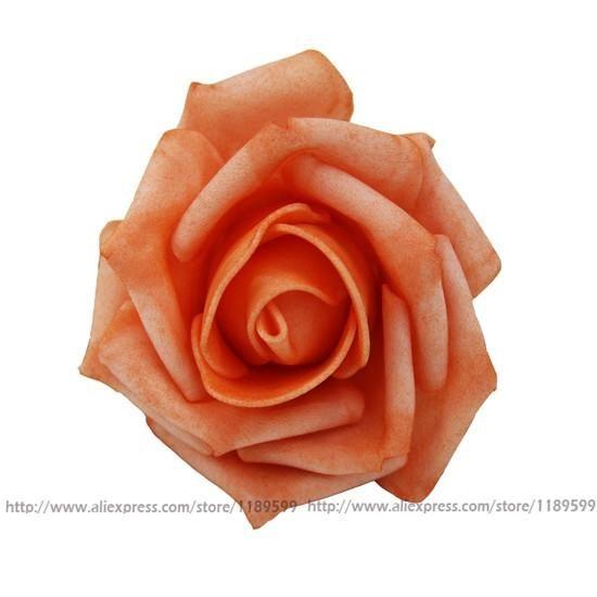 Diameter 6-7 Cm Artificial Foam Roses For Home And Wedding