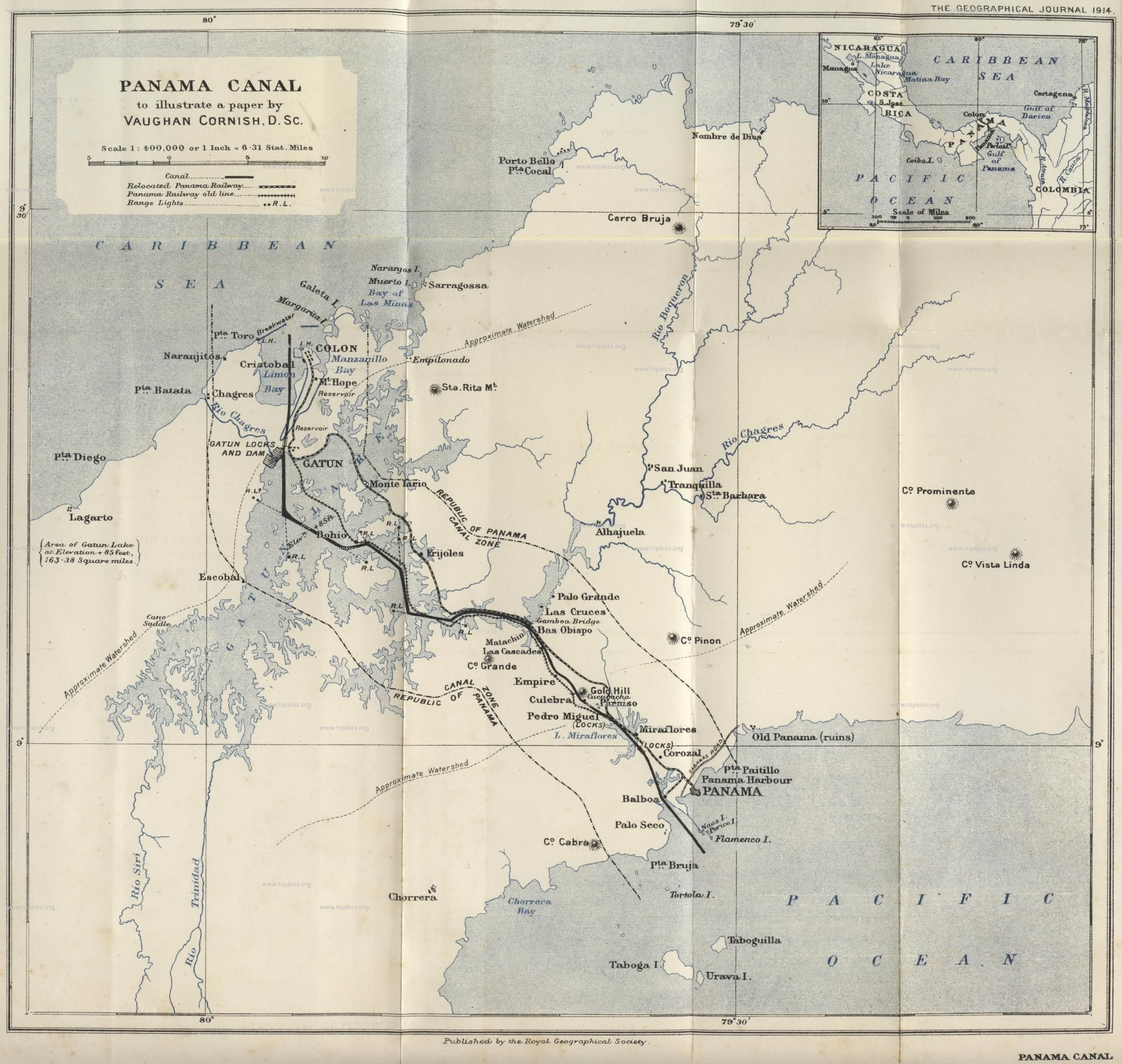 Mapa del canal de panam de 1914 panam pinterest panama mapa del canal de panam de 1914 atlaspanama canal gumiabroncs Images