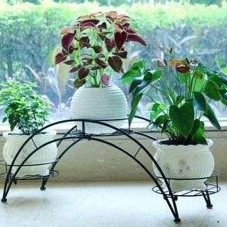 Floreira em ferro decora o suporte vasos de flores em ferro hierro forjado pinterest - Colgadores de hierro forjado ...
