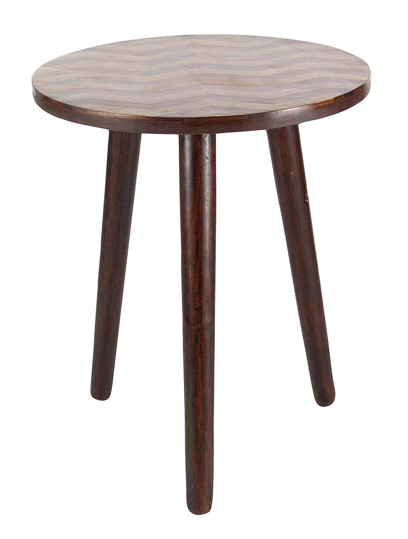 Deco 79 66186 18 22 Wood Round Accent Table 18 X 22 Dark Brown Round Accent Table End Tables Contemporary End Tables [ 1500 x 1136 Pixel ]